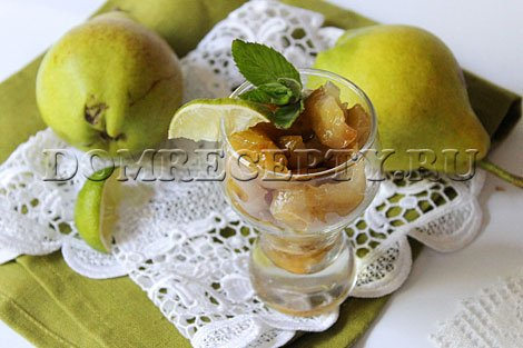 Как варить грушевое варенье - рецепт с фото