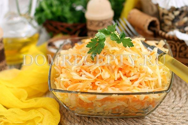 Капустный салат с морковью и уксусом
