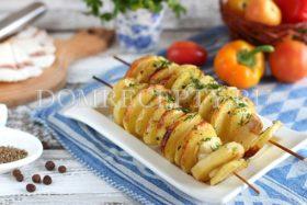 Картошка с салом на шпажках