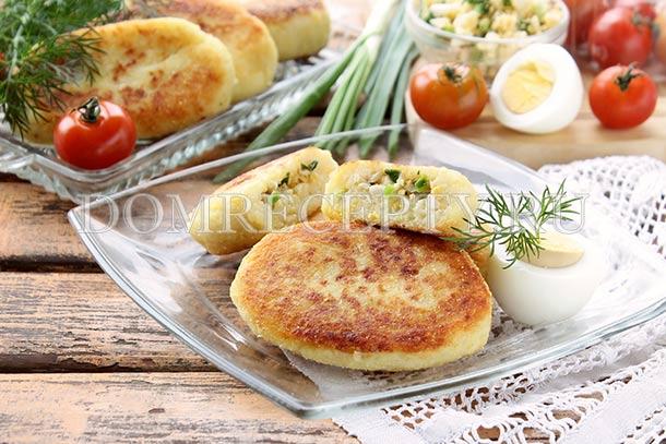 Картофельные зразы с яйцом и луком