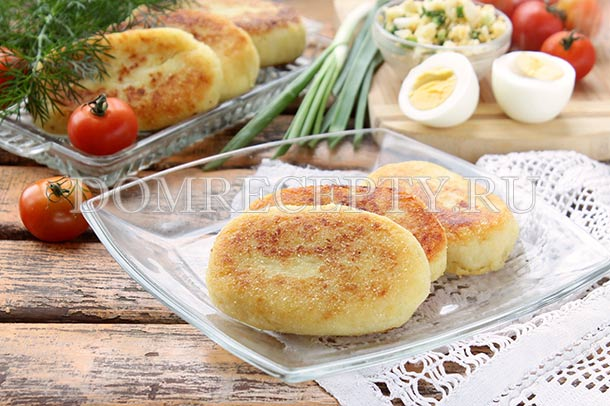 Картофельные зразы с яйцом и зеленым луком