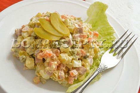 Классический рецепт салата «Оливье» с фото