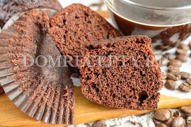 Кофейные маффины с какао