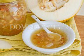 Конфитюр из дыни с лимоном и медом