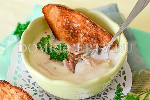 Крем-суп из цветной капусты со сливками