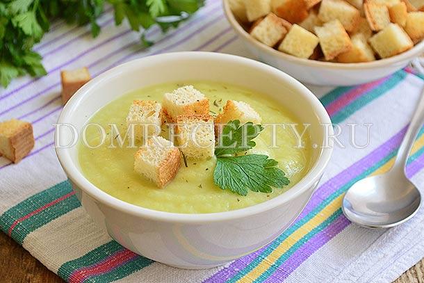 Крем-суп из кабачков и картофеля