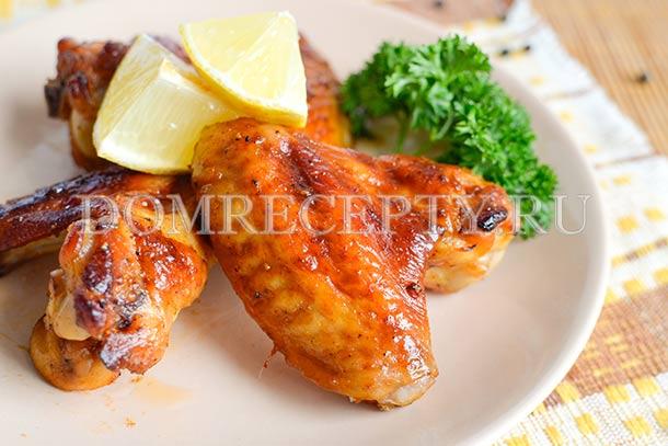 Куриные крылышки в медово-соевом маринаде