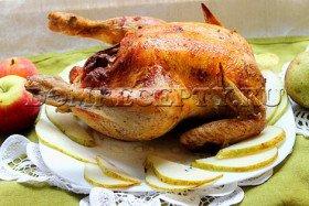 Курица, запеченная в духовке целиком - рецепт с фото