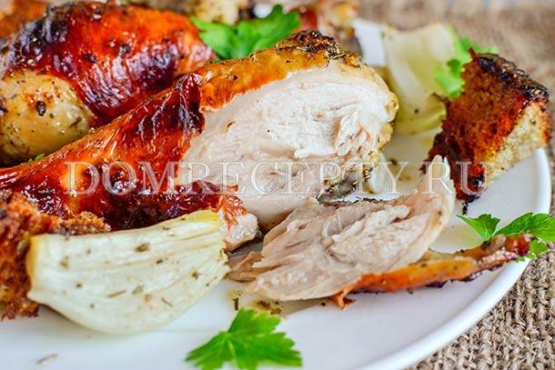 Курица, запеченная в гранатовом соусе