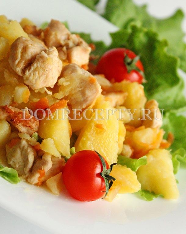 Куриное жаркое с картошкой