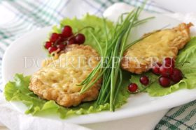 Куриные отбивные с сыром - рецепт с фото