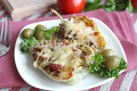 Лодочки из болгарского перца с начинкой