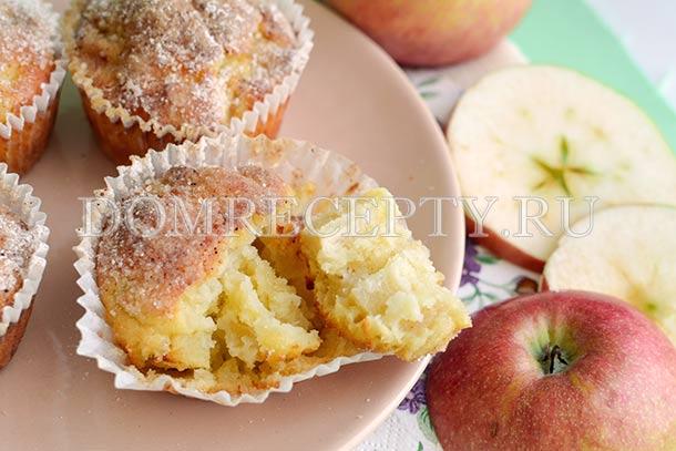 Маффины с яблоком и корицей