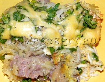 Мясо по-французски из фарша с картофелем