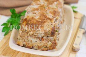 Мясной хлеб, приготовленный в духовке