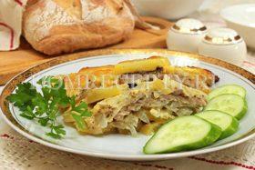 Мясо по-французски с картошкой, запеченное в духовке