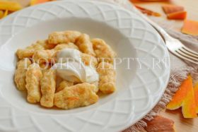 Ньокки из картофеля и тыквы