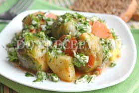Овощное рагу с кабачками, морковью и перцем
