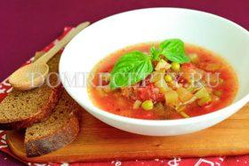 Овощной итальянский суп Минестроне