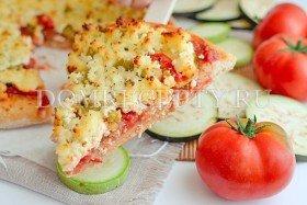 Овощная пицца с кабачками и баклажанами