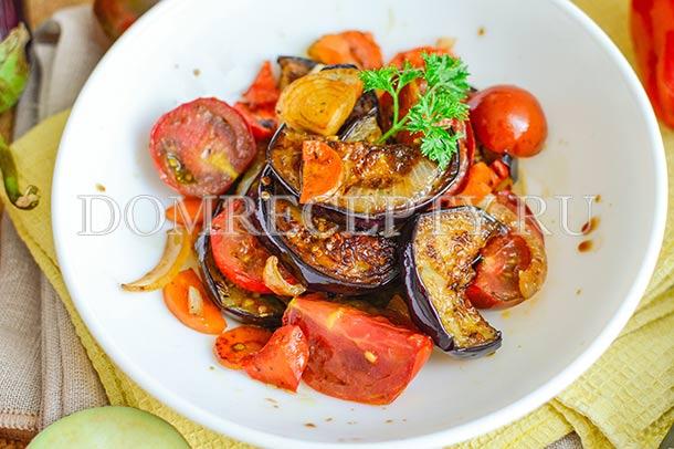 Соте из баклажанов с овощами