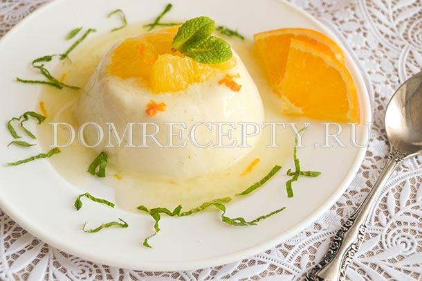 Панакота из йогурта и сливок