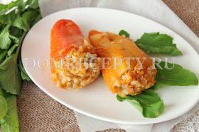 Болгарский перец, фаршированный овощами и рисом