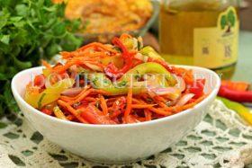 Болгарский перец по-корейски быстрого приготовления