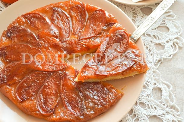 Пирог с хурмой (Тарт Татен)