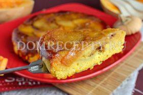 Пирог с тыквой и яблоками из кукурузной муки