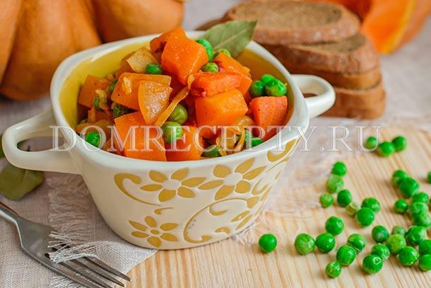 Рагу с тыквой, капустой и овощами