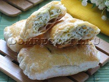 Рецепт вкусных слоек с сыром и зеленью