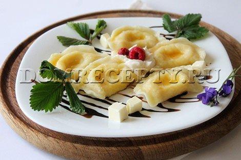 Вкусные вареники с творогом - рецепт с фото