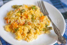 Рис с тыквой и овощами, приготовленный в мультиварке