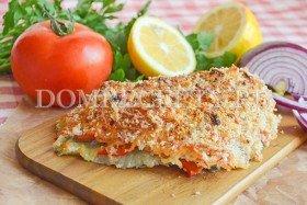 Рыба, запеченная под хлебной корочкой
