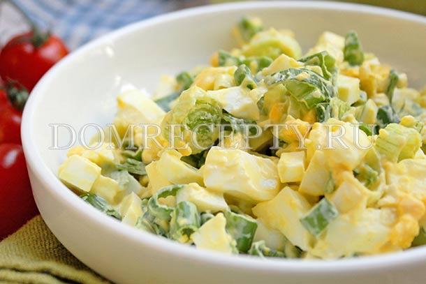 Салат из вареных яиц с зеленым луком