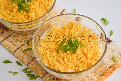 Салат «Мимоза» с рыбными консервами - рецепт с фото