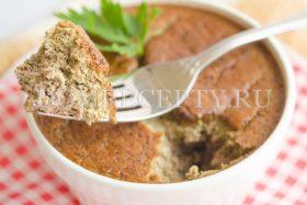 Суфле из печени, приготовленное в духовке