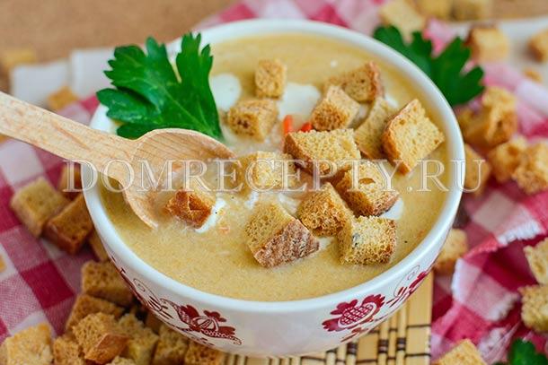 Суп-пюре из квашеной капусты с курицей