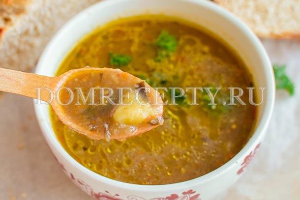 Суп-пюре с баклажанами и овощами