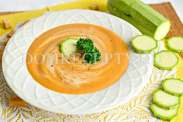 Суп-пюре из кабачков, картофеля и моркови