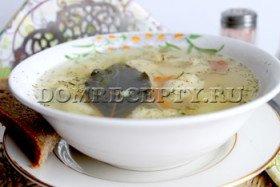 Суп с галушками - рецепт приготовления с фото
