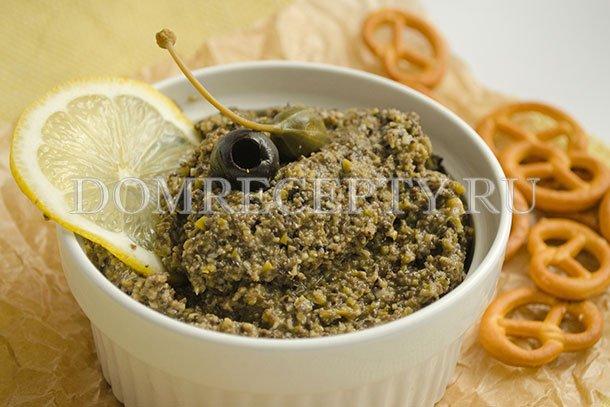 Тапенад из оливок и маслин