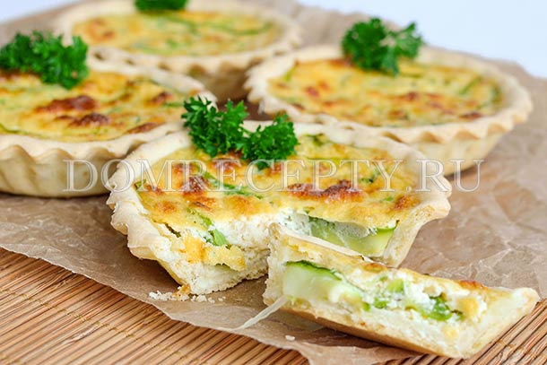 Тарт с кабачками и сыром