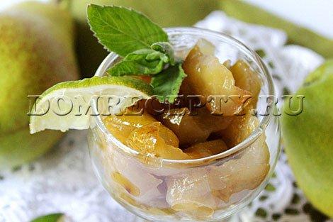 Варенье из груш дольками - рецепт с фото