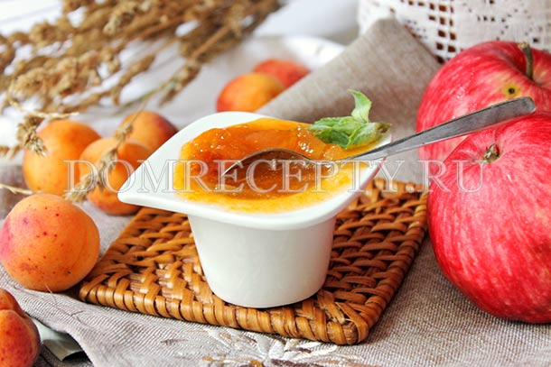 Яблочно-абрикосовый джем на зиму